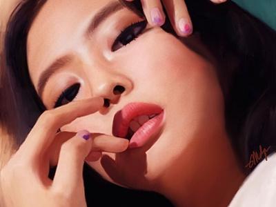 Portrait: Jennie Kim Pt. 2 people closeup illustration digital illustration procreate blackpink celebrity korean portrait digital painting digital painting