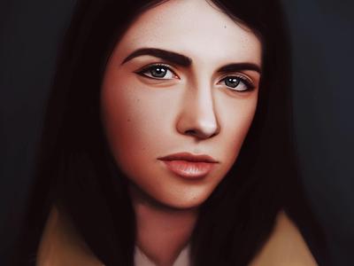 Portrait Study face person digital painting procreate painting realistic portrait illustration