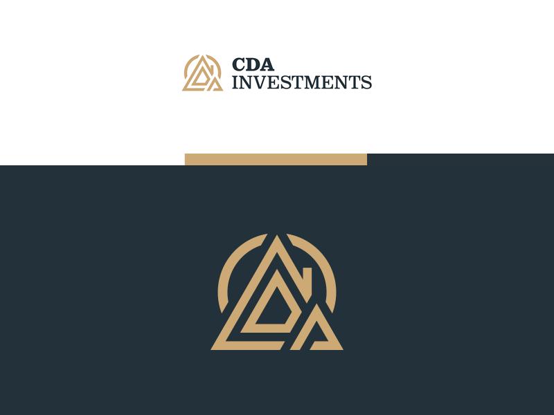 CDA Investments Logo design monogram logo branding
