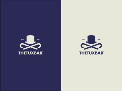 TheTuxBar Logo tuxedo design branding logo