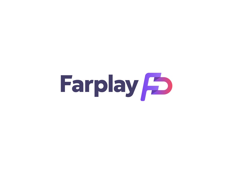 Farplay Logo startup gradient letters flag pf fp fairplay app sport