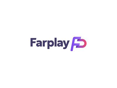 Farplay Logo startup gradient letters flag pf fp fairplay app sport