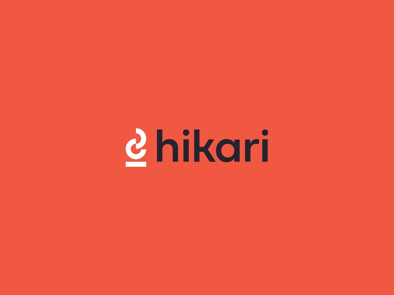 Hikari Logo geometric flame monogram design logo orange branding lettermark badge brand fire pit fire camp fire pitfire
