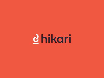 Hikari Logo geometric flame monogram design logo orange branding lettermark badge brand fire pit fire camp fire pitfire