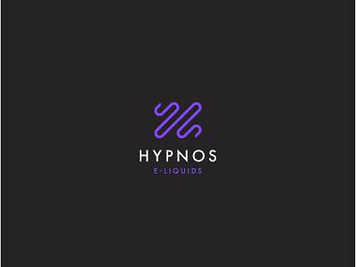 Hypnos E-liquids Logo h letter h logo branding brand badge liquids arguile narguile smoke black purple hypnosys snake e-liquid liquid vapes