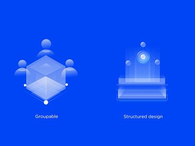 Practice 8 platform illustration icon financial 2.5d