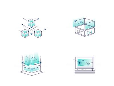 web icon design data illustration icon financial 2.5d