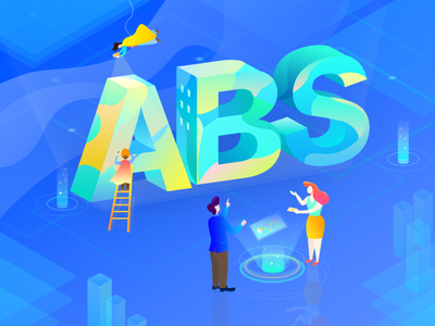 ABS illustrations 1 sense of science and technology illustration financial 2.5d