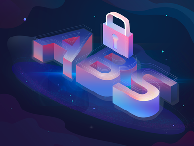 Illustration 4 about ABS lock financial 2.5d