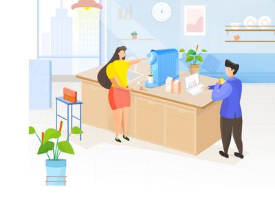 Office scene illustration 5