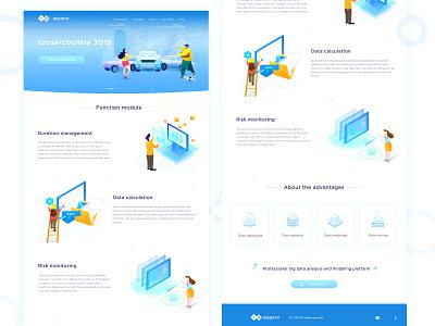 web design about bigdata financial 2.5d modeling business
