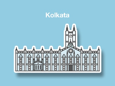St. Paul's Cathedral, Kolkata lineillustration lineart artoftheday heritage monument flatdesign artofvisuals illustration cityofjoy kolkata church churchillustration
