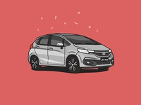Honda Jazz illustration