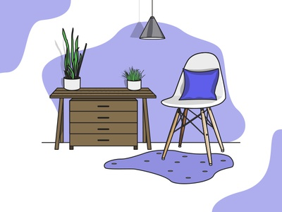 A relaxing living room setup illustration