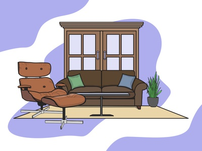 The Relaxing living room illustration - VI