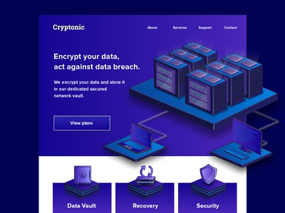 Cryptonic website mockup