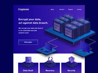 Cryptonic website mockup