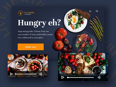 Live Healthy Website Mocktup