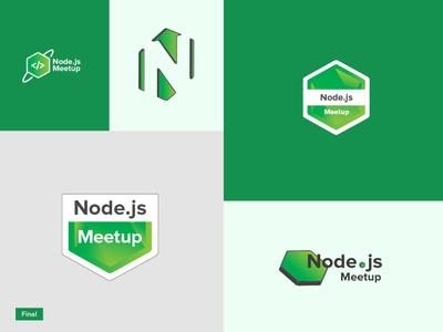Node.js Meetup Logo | Logo Design