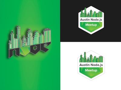 Austin Node.js Meetup symbol | Mascot Logo Design