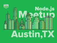 Austin Node.js Meetup community logo illustration