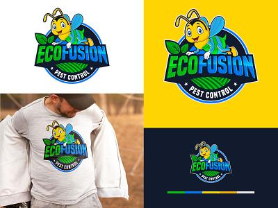 Eco Fusion Logo| Pest Control pest logo organic logo eco ui logo illustration flat icon design creative icon creative clean branding