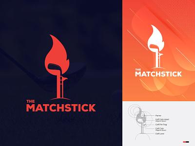 The Matchstick logomaker sports logo golf club logo golf logo clean branding