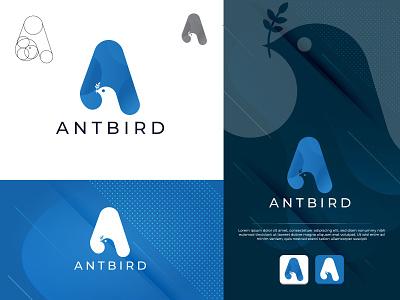 Antbird   A letter bird logo bird logo bird logo flat design creative icon branding creative clean