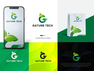 Gature Tech | Organic Tech Logo | Nature Logo technology logo flat icon minimal icon growth leaf logo nature logo tech logo design logo flat creative icon creative clean branding