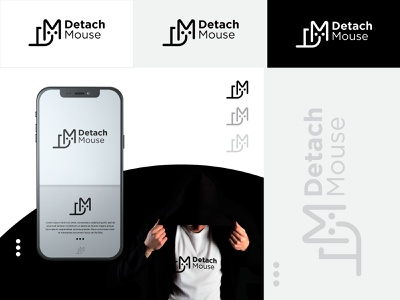 Detach Mouse | Tech Logo | DM Letter Logo agency logo it logo logo design mouse logo dm tech logo dm letter logo minimal vector design logo flat creative icon creative clean branding