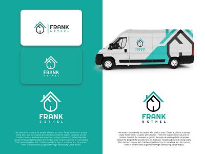 Frank And Ethel logodesign lettering creative icon creative vector logo minimal illustrator flat icon typography illustration identity design clean branding