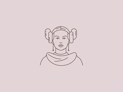 Princess Leia character characters icondesign icon starwars leiaprincess leia princess