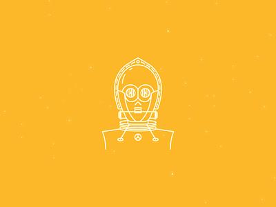 C-3PO character characters icondesign icon starwars c3po c-3po