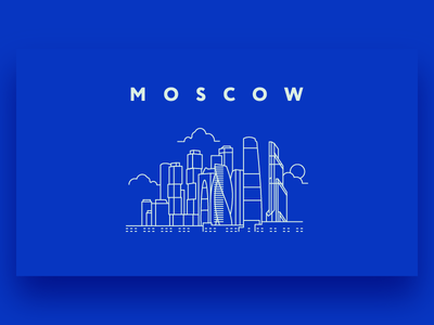 Moscow City Illustration vector landscape skyscraper walkup street home cord building outline illustration city moscow