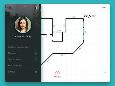Repairs  iPad app simple minimal repairs plan menu ios design app interface ux ui ipad