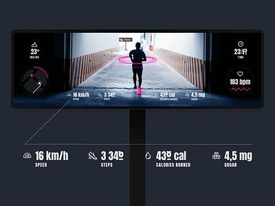 Test task for the Artgorbunov bureau sport map health fitness track running run jogging app ui vr ar