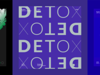 Typography project, Detox