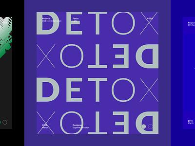 Typography project, Detox designinspiration graphic designing designers designer design graphicdesigner graphicdesign fonts font types typo type typeface typographie typographicposter typogram typosters typographic typography