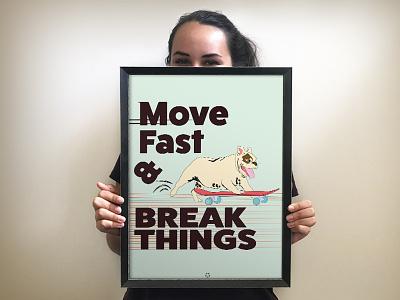 Inspirational Poster fun engaging culture frame office dog deputydesign deputyapp design