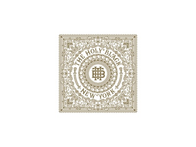 The Holy Black Bandanna premium mens grooming organization the holy black new york the holy black monogram logo the holy black illustration traditional illustration handcrafted unique symbol typeface traditional vintage monogram logo unique handcrafted illustration tuyetduyetstudio tuyetduyet the bandanna bandanna