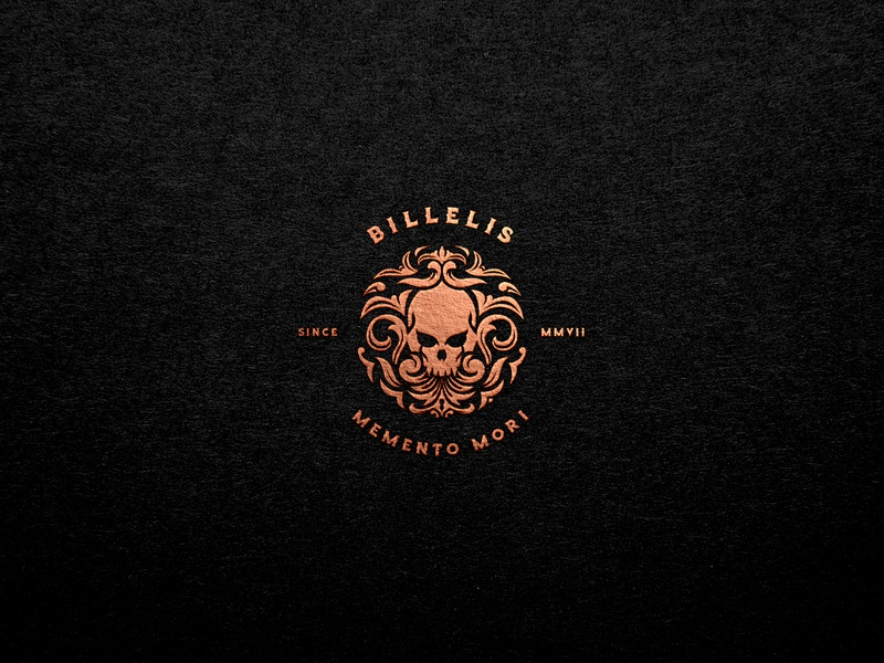 Billelis Skull Logo billelis logos billelis tuyetduyetstudio tuyetduyet vintage illustration traditional illustration typeface handcrafted unique handcrafted illustration traditional unique typography decorations ornaments hand lettering elements skull emblem skull skull logos