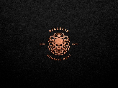 Billelis Skull Logo billelis logos billelis tuyetduyetstudio tuyetduyet vintage illustration traditional illustration typeface handcrafted unique handcrafted illustration traditional unique typography decorations ornaments hand lettering elements skull emblem skull skull logos