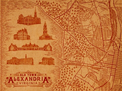 Map of Old Town Alexandria, Virginia.