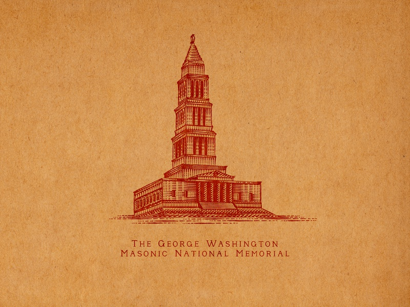 The George Washington Masonic National Memorial virginia old town alexandria sporthealth old town elements flourishes hand lettering ornaments decorations typography unique traditional unique handcrafted illustration handcrafted traditional illustration illustration vintage tuyetduyet tuyetduyetstudio