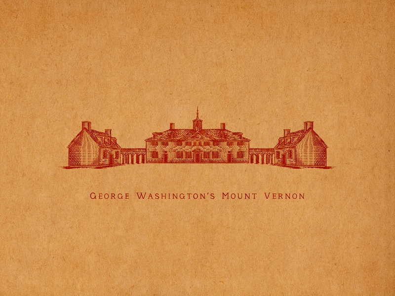 George Washington's Mount Vernon george washingtons mount vernon virginia old town alexandria sporthealth old town elements flourishes hand lettering ornaments decorations typography unique traditional unique handcrafted illustration handcrafted traditional illustration illustration vintage tuyetduyet tuyetduyetstudio