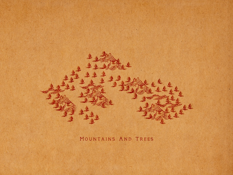 Mountains And Trees mountains mountains and trees virginia old town alexandria sporthealth old town elements flourishes hand lettering ornaments decorations typography unique traditional unique handcrafted illustration handcrafted traditional illustration illustration vintage tuyetduyet tuyetduyetstudio