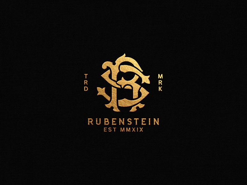 Rubenstein Monogram r monogram logo rs monogram logo rs monogram hand lettering ornaments typography unique traditional handcrafted traditional illustration illustration vintage tuyetduyet tuyetduyetstudio rubenstein rubenstein capital typography logo branding maison co lion illustration