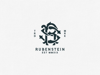 Rubenstein Monogram rs logo maison co branding typography logo rubenstein capital rubenstein tuyetduyetstudio tuyetduyet vintage illustration traditional illustration handcrafted traditional unique typography ornaments hand lettering rs monogram rs monogram logo r monogram logo