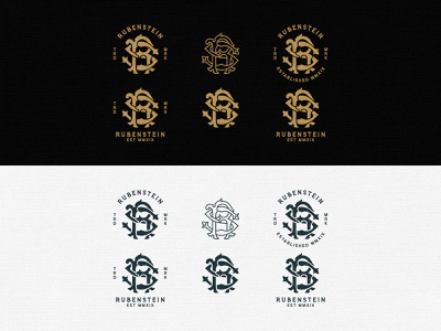 Rubenstein Monogram r monogram logo rs monogram logo rs monogram hand lettering ornaments typography unique traditional handcrafted traditional illustration illustration vintage tuyetduyet tuyetduyetstudio rubenstein rubenstein capital typography logo branding maison co rs logo