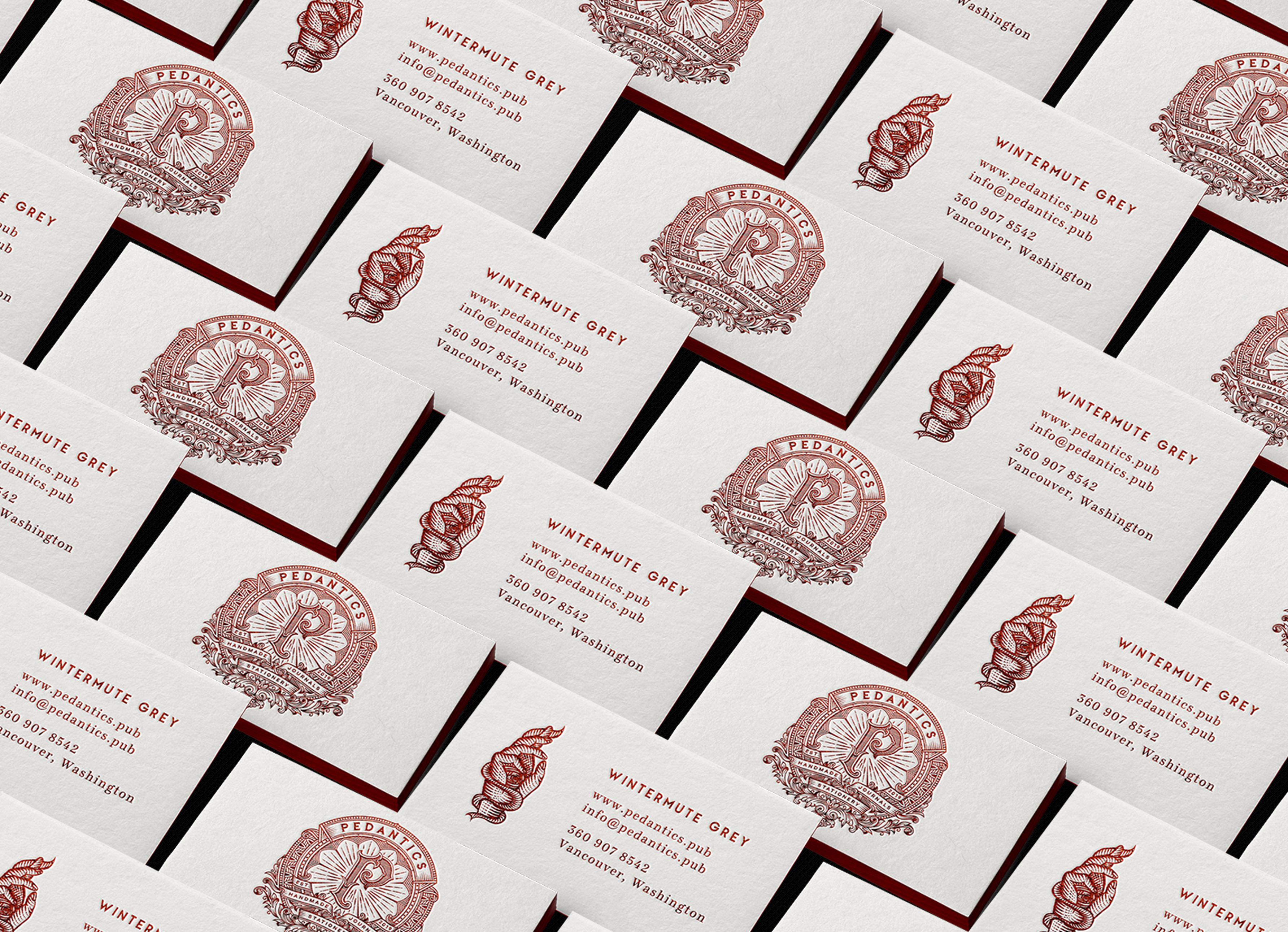 Pedantics business cards